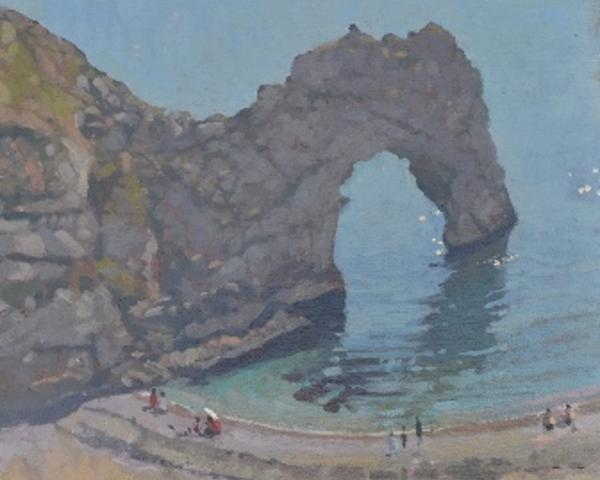 Richard Price Painting - cliff top view