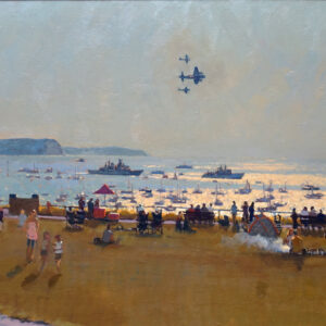 Richard Price Painting - Fly Pass with Flotilla 2012