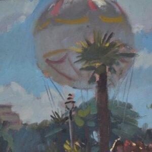 Richard Price Painting - Tethered Balloon